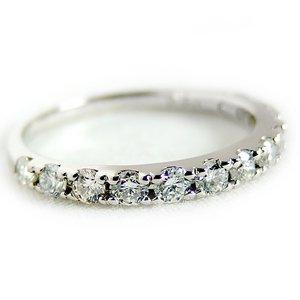 プラチナPT900 天然ダイヤリング 指輪 ダイヤ0.50ct 9号 Good H SI ハーフエタニティリング - 拡大画像