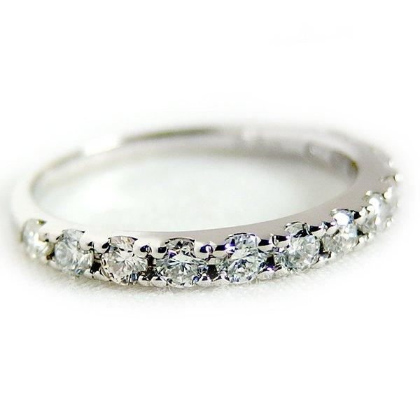 プラチナPT900 天然ダイヤリング 指輪 ダイヤ0.50ct 9号 Good H SI ハーフエタニティリングf00