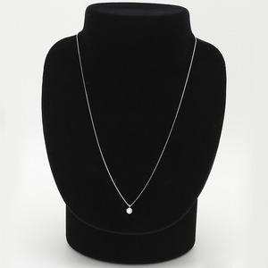【鑑定書付】 ダイヤモンドペンダント/ネックレス 一粒 K18 ホワイトゴールド 0.3ct ダイヤネックレス 6本爪 Kカラー SIクラス Excellent 中央宝石研究所ソーティング済み h03