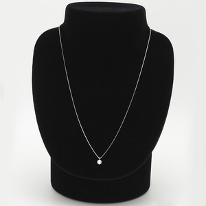 【鑑定書付】 ダイヤモンドペンダント/ネックレス 一粒 K18 ホワイトゴールド 0.3ct ダイヤネックレス 6本爪 Fカラー VSクラス Excellent 中央宝石研究所ソーティング済み h03