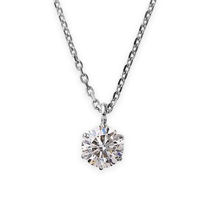 【鑑定書付】ダイヤモンドペンダント/ネックレス一粒プラチナPt9000.3ctダイヤネックレス6本爪HカラーI1クラスGood中央宝石研究所ソーティング済み