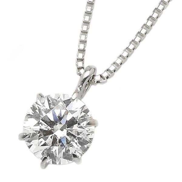 ダイヤモンド ネックレス 一粒 プラチナ Pt900 0.4ct ダイヤネックレス 6本爪 Dカラー SI2 Excellent EXハート&キューピット 鑑定書付き