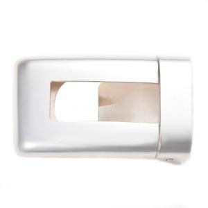 ベルトバックル角型透かし無地3cmベルト幅用銀製磨き仕上げ日本伝統工芸品ハンドメイドスターリングシルバー