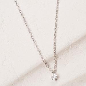 ダイヤモンドペンダント/ネックレス一粒プラチナPt900台0.1ctダイヤネックレス6本爪JカラーSIGoodソーティング済みダイヤ使用