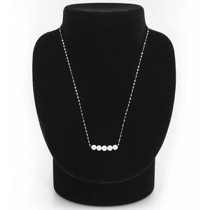 アコヤ真珠 ネックレス パールネックレス K18 イエローゴールド 約5mm 約5ミリ珠 5個 あこや真珠 ペンダント シンプル パール 本真珠