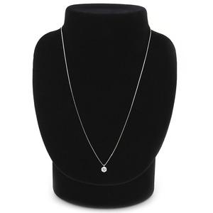 ダイヤモンド ネックレス 一粒 0.5ct プラチナ Pt900 6本爪 無色透明 E ~ Gカラー SI2クラス Excellent エクセレント 0.5カラット ダイヤネックレス ペンダント 中央宝石研究所 CGL 鑑定書付き