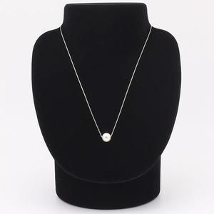 アコヤ真珠 ネックレス パールネックレス K18 ホワイトゴールド 花珠クラス 約8mm 約8ミリ珠 40cm 長さ調節可能(アジャスター付き) あこや真珠 パール 本真珠