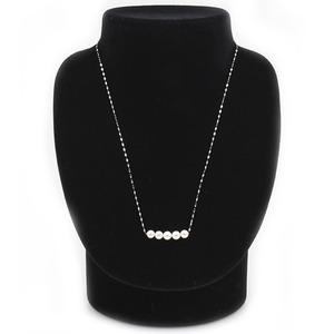 アコヤ真珠 ネックレス パールネックレス K18 ホワイトゴールド 約5mm 約5ミリ珠 5個 あこや真珠 ペンダント シンプル パール 本真珠
