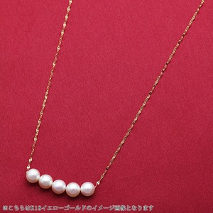 アコヤ真珠 ネックレス パールネックレス K18 ホワイトゴールド 約5mm 約5ミリ珠 5個 あこや真珠 ペンダント シンプル パール 本真珠 f04