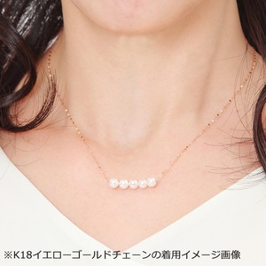アコヤ真珠 ネックレス パールネックレス K18 ホワイトゴールド 約5mm 約5ミリ珠 5個 あこや真珠 ペンダント シンプル パール 本真珠 f05