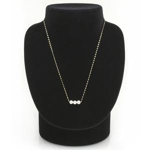 アコヤ真珠 ネックレス パールネックレス K18 イエローゴールド 約5mm 約5ミリ珠 3個 あこや真珠 ペンダント シンプル パール 本真珠