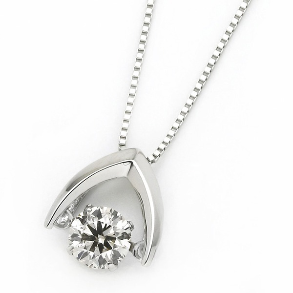 ダイヤモンド ネックレス プラチナ Pt900 0.3ct 揺れる ダイヤ ダンシングストーン ダイヤネックレス 傘 カサ ペンダントf00