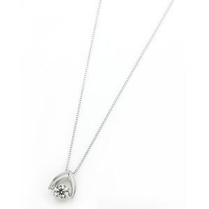 ダイヤモンド ネックレス プラチナ Pt900 0.3ct 揺れる ダイヤ ダンシングストーン ダイヤネックレス 傘 カサ ペンダント h02