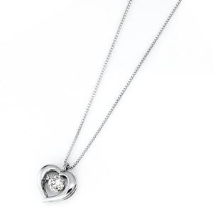 ダイヤモンド ネックレス プラチナ Pt900 0.3ct 揺れる ダイヤ ダンシングストーン ダイヤネックレス ハート ペンダント h02