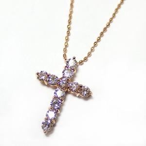 ダイヤモンド 0.5ct K18 イエローゴールド 十字架 クロス ペンダント 限定1点限り
