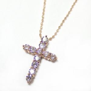 ダイヤモンド 0.5ct K18 ピンクゴールド 十字架 クロス ペンダント 限定1点限り