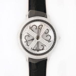 アンコキーヌ ネオ 45mm バイカラー ミニクロス シルバーベゼル インナーベゼルブラック ブラックベルト イール 正規品(腕時計・グルグル時計) h01