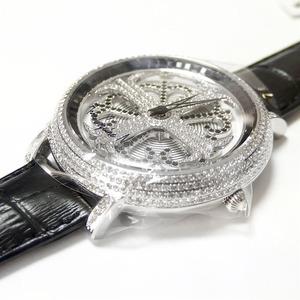 アンコキーヌ ネオ 45mm バイカラー ミニクロス シルバーベゼル インナーベゼルブラック ブラックベルト イール 正規品(腕時計・グルグル時計) h02