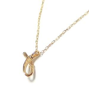 イニシャル ネックレス ダイヤモンド ネックレス 一粒 0.01ct K18 ゴールド 文字 L ダイヤネックレス ペンダント