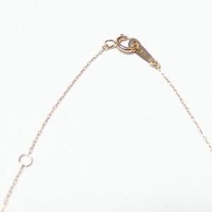 イニシャル ネックレス ダイヤモンド ネックレス 一粒 0.01ct K18 ゴールド 文字 H ダイヤネックレス ペンダント