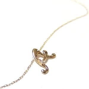 イニシャル ネックレス ダイヤモンド ネックレス 一粒 0.01ct K18 ゴールド 文字 A ダイヤネックレス ペンダント