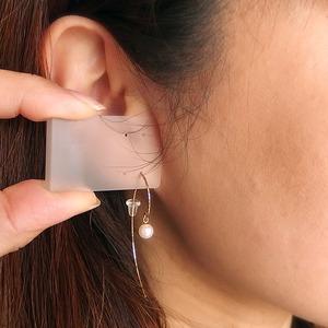 アコヤ真珠 パール ピアス K18 イエローゴールド ジプシーピアス 5mm 5ミリ珠 本真珠 真珠