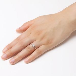 ダイヤモンド ブライダル リング プラチナ Pt900 0.4ct ダイヤ指輪 Dカラー SI2 Excellent EXハート&キューピット エクセレント 鑑定書付き 10号