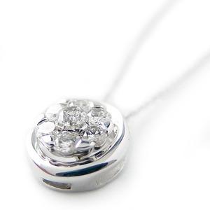 ダイヤモンド ネックレス K18 ホワイトゴールド 0.22ct 7ダイヤ コロネットセッティング Hカラー SIクラス 0.22カラット ペンダント 限定1点限り