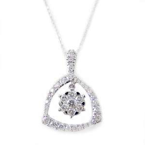 ダイヤモンド ネックレス K18 ホワイトゴールド 0.75ct 7ダイヤ コロネットセッティング Hカラー SIクラス