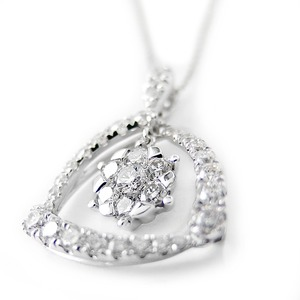 ダイヤモンド ネックレス K18 ホワイトゴールド 0.75ct 7ダイヤ コロネットセッティング Hカラー SIクラス 0.75カラット ゴージャス ペンダント 限定1点限り