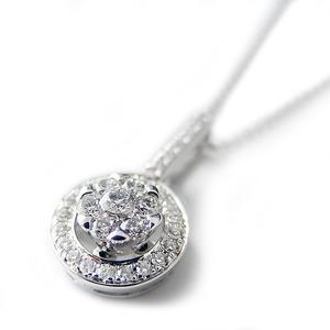 ダイヤモンド ネックレス K18 ホワイトゴールド 0.23ct 7ダイヤ コロネットセッティング Hカラー SIクラス バケットダイヤ 0.23カラット ペンダント 限定1点限り