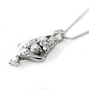 ダイヤモンド ネックレス K18 ホワイトゴールド 0.3ct ダイヤネックレス 45cmスライド調整付きチェーン 0.3カラット ペンダント 限定1点限り