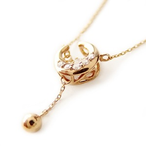 ダイヤモンド ネックレス K10 イエローゴールド 0.09ct ダンシングストーン ハート&キューピッド H&C Hカラー SIクラス 揺れるダイヤが輝きを増す 揺れる ダイヤ ペンダント 限定1点限り