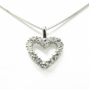 ダイヤモンド ネックレス プラチナ Pt900 0.12ct ダイヤ18石 ハートモチーフ ペンダント