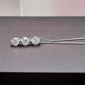 ダイヤモンド ネックレス プラチナ Pt900 0.3ct ダイヤ3石 スリーポイントダイヤ ペンダント