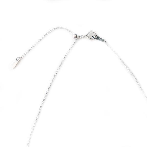 ネックレス K18 ホワイトゴールド 地金ネックレス 45cmチェーン スライド調整機能付き シンプル