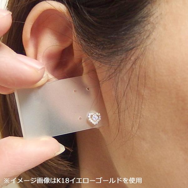 ダイヤモンド ピアス 0.3ct K18 ピンクゴールド 0.3カラット ハート ダイヤ ピアス スタッド シンプル ハートデザイン