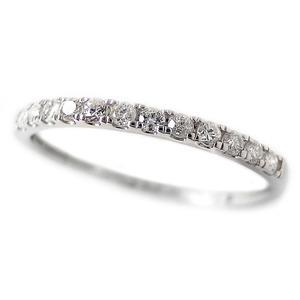 ダイヤモンド リング ハーフエタニティ 0.15ct 8号 プラチナ Pt950 0.15カラット シンプル 細身 エタニティリング 指輪 鑑別カード付き