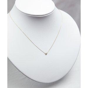 K18 ダイヤモンドペンダント/ネックレス 一粒0.05ctUP フクリンタイプ h02