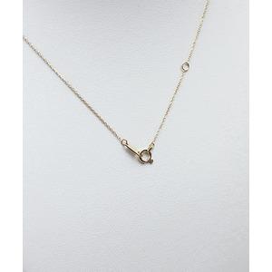 K18 ダイヤモンドペンダント/ネックレス 一粒0.05ctUP フクリンタイプ f04