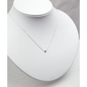 プラチナPt900  ダイヤモンドペンダント/ネックレス 一粒0.10ctUP フクリンタイプ h02