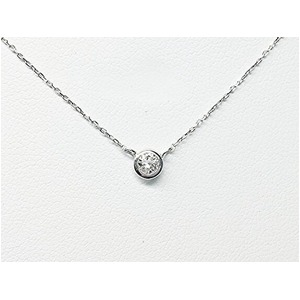 プラチナPt900  ダイヤモンドペンダント/一粒0.15ctUP フクリンタイプ