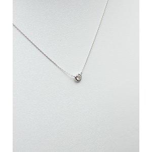 プラチナPt900  ダイヤモンドペンダント/ネックレス 一粒0.15ctUP フクリンタイプ h02