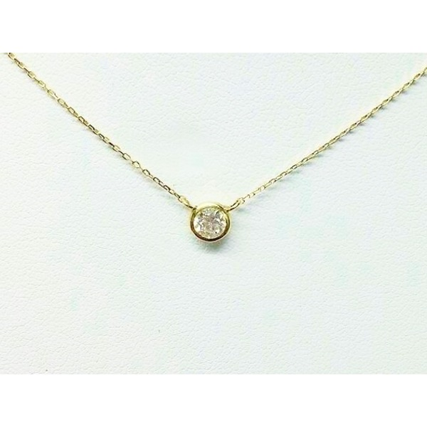K18 ダイヤモンド一粒0.20ctUPネックレス フクリンタイプf00