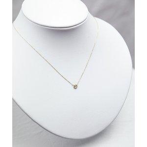 K18 ダイヤモンド一粒0.20ctUPネックレス フクリンタイプ h02