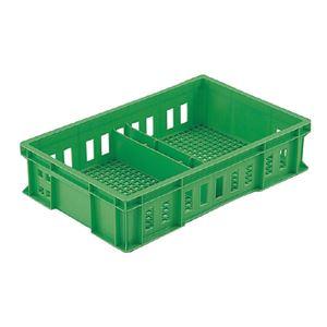 三甲(サンコー) 全面網目コンテナボックス/サンテナー スタッキング可 B20T グリーン(緑)