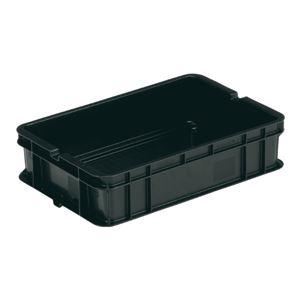 三甲(サンコー)ベタ目コンテナボックス/サンボックス【L】導電性PP5-4ブラック(黒)