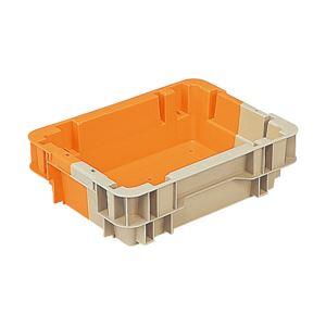 三甲(サンコー)SNコンテナ/2色コンテナボックス【Nタイプ】水抜孔有#7Aグレー×オレンジ