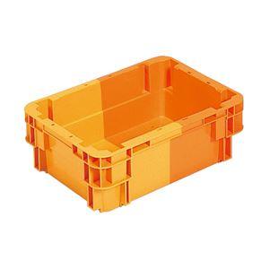 三甲(サンコー) SNコンテナ/2色コンテナボックス 【Bタイプ】 水抜孔無 #11 オレンジ×オレンジ