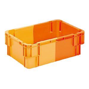 三甲(サンコー) SNコンテナ/2色コンテナボックス 【Bタイプ】 孔有 #36 オレンジ×オレンジ